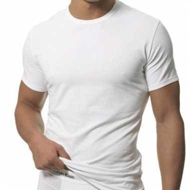 2-pak witte shirts voor heren