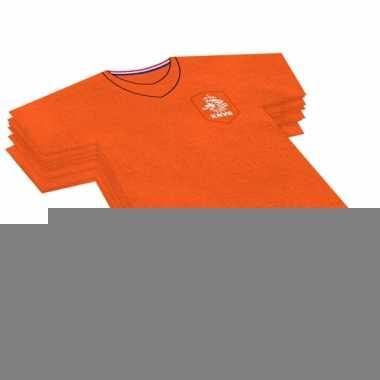 40x oranje voetbalshirt feest servetten 16 x 15 cm