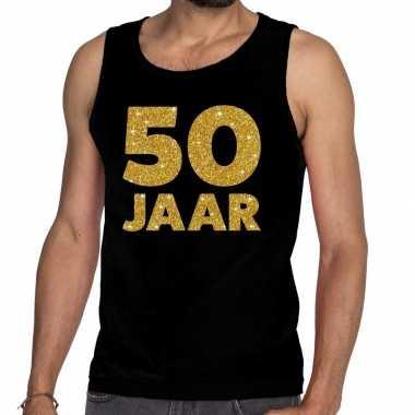 50 jaar fun tanktop / mouwloos shirt zwart voor heren