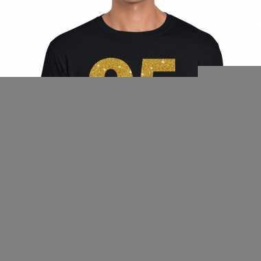 95e verjaardag cadeau t-shirt zwart met goud heren