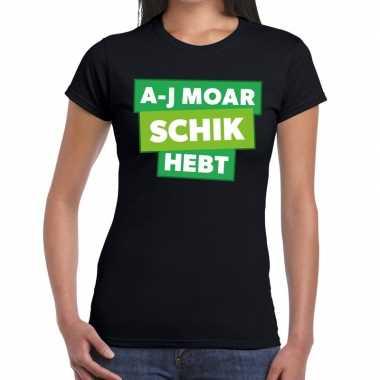 A-j moar schik hebt zwarte cross t-shirt zwart voor dames