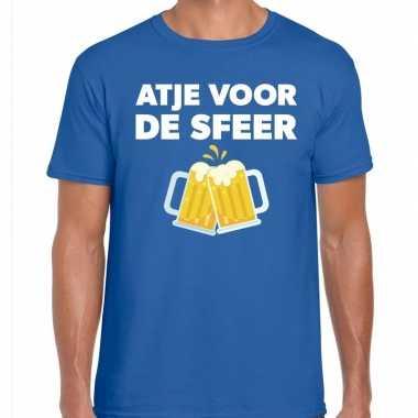 Atje voor de sfeer fun t-shirt blauw voor heren
