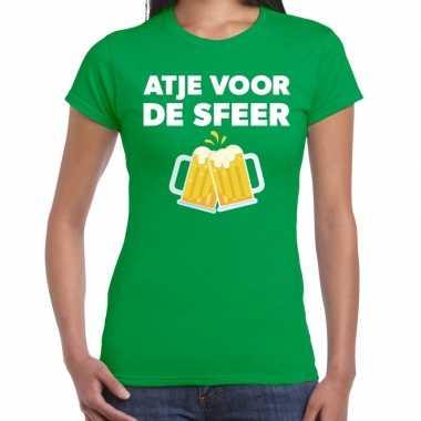 Atje voor de sfeer fun t-shirt groen voor dames