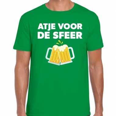 Atje voor de sfeer fun t-shirt groen voor heren