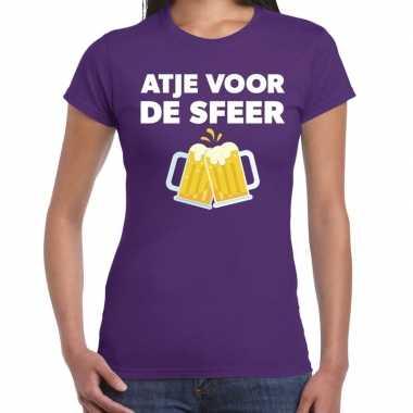 Atje voor de sfeer fun t-shirt paars voor dames