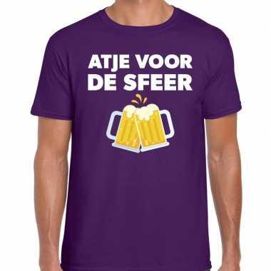 Atje voor de sfeer fun t-shirt paars voor heren