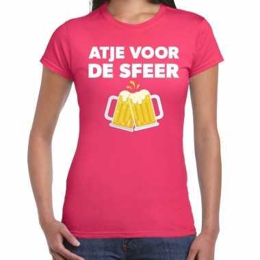 Atje voor de sfeer fun t-shirt roze voor dames