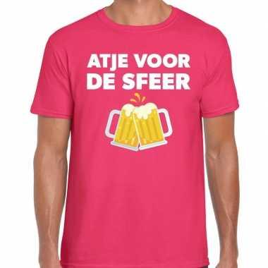 Atje voor de sfeer fun t-shirt roze voor heren