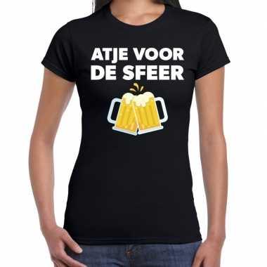 Atje voor de sfeer fun t-shirt zwart voor dames