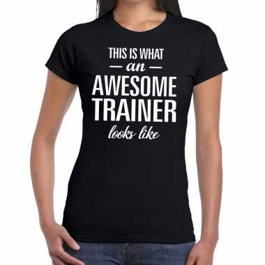 Awesome trainer kado t-shirt zwart voor dames