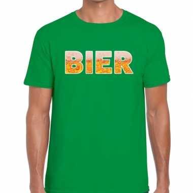 Bier fun t-shirt groen voor heren