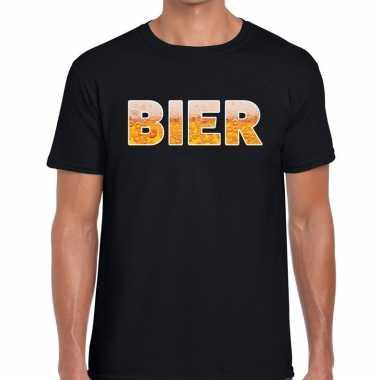 Bier fun t-shirt zwart voor heren