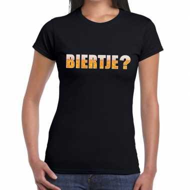 Biertje fun t-shirt zwart voor dames