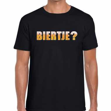 Biertje fun t-shirt zwart voor heren