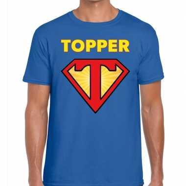 Blauw t- shirt super topper heren