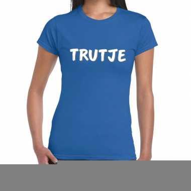 Blauw t-shirt trutje voor dames
