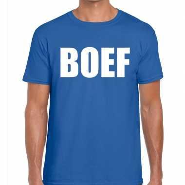 Boef fun t-shirt voor heren blauw