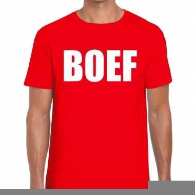 Boef fun t-shirt voor heren rood