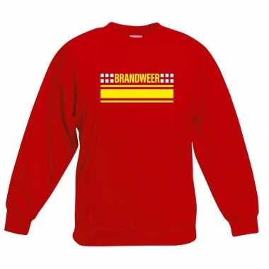 Brandweerman sweater / trui rood voor kinderen