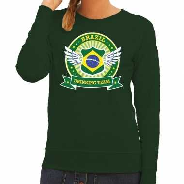 Brazil drinking team sweater groen dames