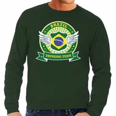 Brazil drinking team sweater groen heren