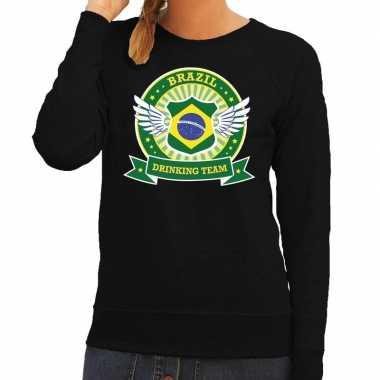 Brazil drinking team sweater zwart dames