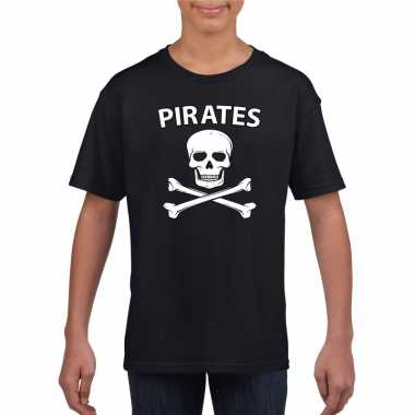 Carnaval piraten t-shirt zwart jongens en meisjes