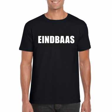 Eindbaas fun t-shirt zwart voor heren