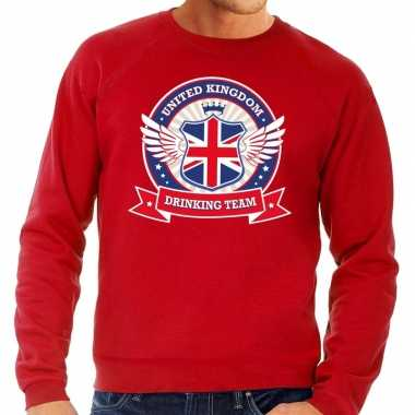 Engeland drinking team sweater rood heren