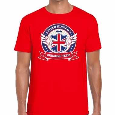 Engeland drinking team t-shirt rood heren