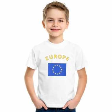 Europeesche vlaggen t shirts voor kinderen