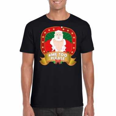Foute kerst shirt zwart hashtag me2 discusie voor heren