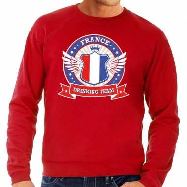 France drinking team sweater rood heren