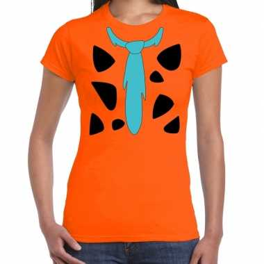 Fred lookalike holbewoner t-shirt voor dames