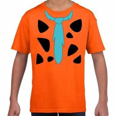 Fred lookalike holbewoner t-shirt voor jongens en meisjes