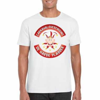 Fun t-shirt brabantse carnavalsvereniging wit voor heren