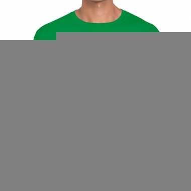 Fun t-shirt laat me met rust ik heb een kater groen voor heren