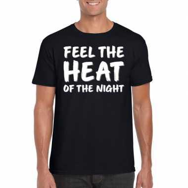 Fun tekst shirt voor heren feel the heat