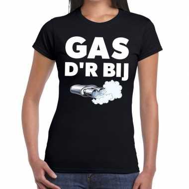 Gas der bij zwarte cross achterhoek t-shirt zwart voor dames