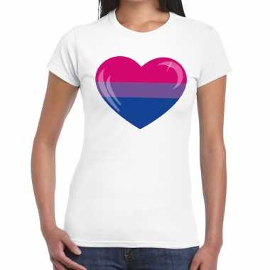Gay pride biseksueel hart wit dames