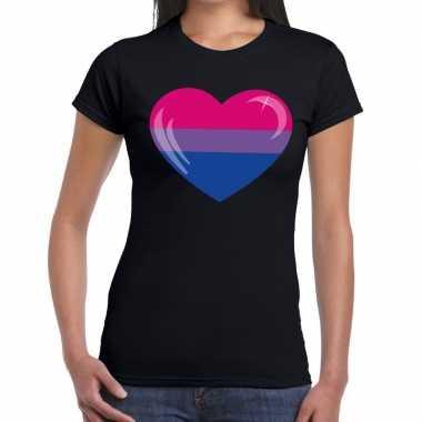 Gay pride biseksueel hart zwart dames