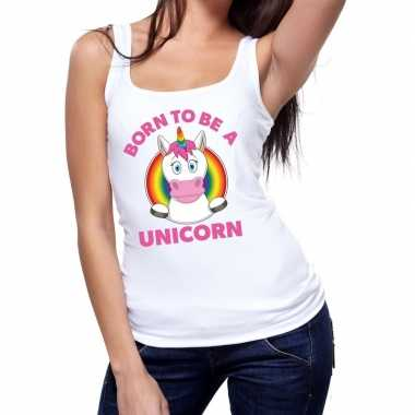 Gay pride born to be a unicorn tanktop wit dames