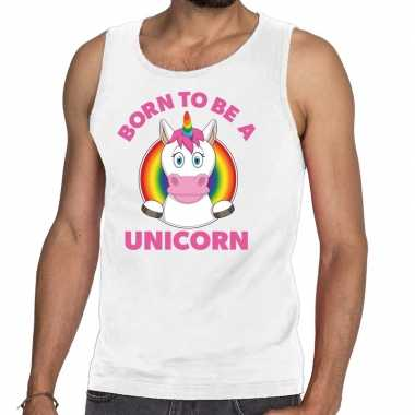 Gay pride born to be a unicorn tanktop wit heren