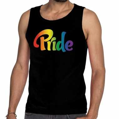 Gay pride tanktop pride zwart heren