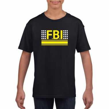 Geheim agent shirt zwart voor kinderen