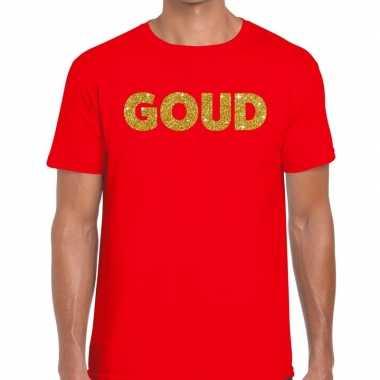Goud fun t-shirt rood voor heren
