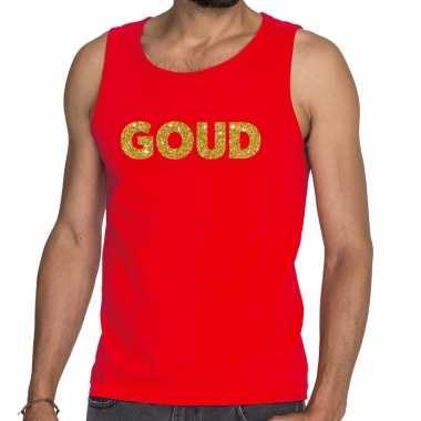 Goud fun tanktop / mouwloos shirt rood voor heren