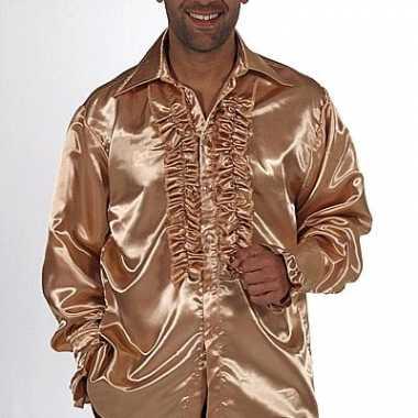 Gouden overhemd voor heren