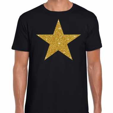Gouden ster fun t-shirt zwart voor heren