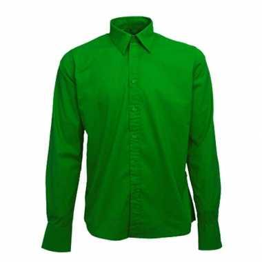 T Shirt Overhemd.Groen Heren Overhemd Manhattan T Shirt S Nl